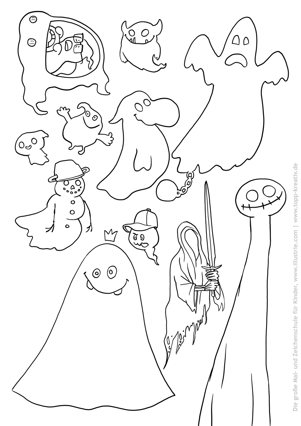 Halloween Geister Spezial Illustrie