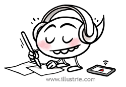 Schreibende Sprechblase mit Kopfhörern // Writing Speechballoon with headphones . .  #illustration #speechballon #sprechblase #characterdesign #cute #listen&learn #headphones #write #draw #hörspiel #podcast #comic #comicfigure #comicstyle #geek #nerd #comicnerd #creative #listening #zuhören #schreiben #zeichnen #drawing #smallguy #chibi