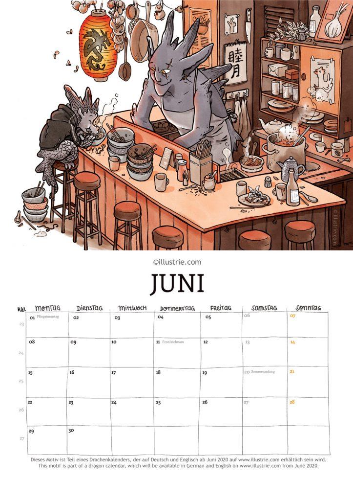 Illustration für einen Jahreskalender zum Thema Drachen für Fantasy- und Comicfans. Illustration for an annual calendar about dragons for fantasy and comic fans. Motiv June . . #drawing #coloring #illustration #art #dragon #fantasyart #drachenkalender #calendar #kalender #month #planer #terminkalender #knoblauch #nerd #comicstyle #zeichnen #creaturedesign #illustrator #inking #sketch #dessiner #ramen #ramenbar #bar #cooking #food #yummy #tresen #theke #noodle #noodlebar #foody #lecker #essen #kochen #cuisine #küche #kitchen #braten #eat #tasty #foodie #soup #soja #sojasauce #nudelsuppe #ramenlover #lunch #dinner #tonkotsu #misoramen #shoyuramen #shioramen #noodlesoup #restaurant #spicy #foodporn #schüssel #stäbchen #egg #chicken #udon #japanese #porkbelly #tofu #kräuter