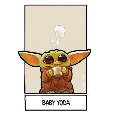 Baby Yoda for #sixfanarts by Illustrie . #drawingchallenge #draw #illustration #zeichnen #zeichnung #fanart #comicstyle #lineart #starwars #babyyoda #themandalorian #chacaterdesign #alien #tea #ears #baby #cute #movie