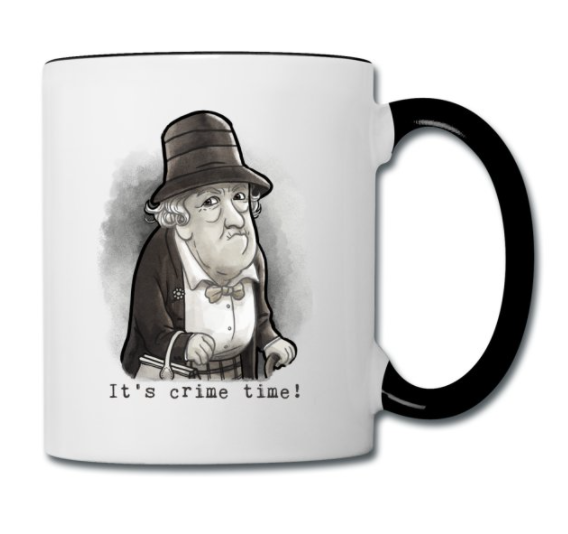 Miss Marple Mug by Illustrie . #crimenovel, #krimi, #agathachristie, #british, #missmarple, #thriller, #krimidinner, #kriminacht, #lesen, #reading, #booklove, #book, #bookish, #bookstagram, #booknerd, #literature, #leseratte, #queenofcrime, #bücherwurm, #author, #writer, #lesenmachtglücklich, #detectivestory, #detektiv, #buchliebe, #bücher, #characterdesign, #nerd, #geek, #mug, #becher, #tasse, #geschenk, #geschenkidee, #gift, #illustration, #art, #fanart, #margaretrutherford, #oldfashioned, #blackandwhite
