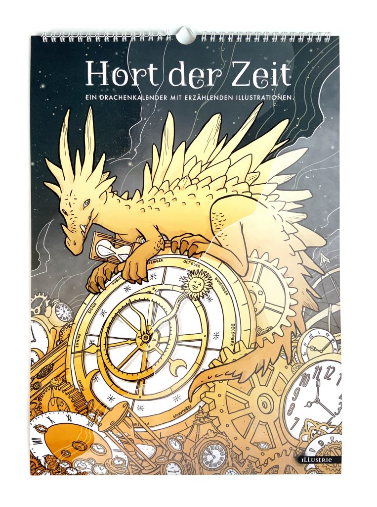 Drachenkalender DIN A3, Blanko-Jahres-Planer by Illustrie . #illustration #calendar #kalender #planer #jahresplaner #etsy #blankokalender #familienplaner #fantasy #art #handmade #storydrivenillustration #illustration #comic #comicstyle #fantasyart #charakterdesign #selfpublishing #dragon #drache #hortderzeit #hoardoftime #dragonhoard #drachenhort #zeit #time #uhren #gold #schatz