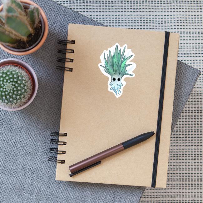 Characterdesign of Ghostplant by Illustrie.com . #Zeichnung #niedlich #gruselig #houseplant #Cartoon #cute #Pflanze #Garten #illustration #grünerDaumen #ghost #Geist #Characterdesign #funny #green #Character #Natur #Kawaii #grün #Humor #AloeVera #plant #Comicfigur #Gespenst #lustig #Halloween #creature #spooky #boo #spuken #plantlife #plantlove #gardening #death #gießen #succulent #morbide #gift #geschenk #sticker #aufkleber #pin #stickerlove #stick #spread