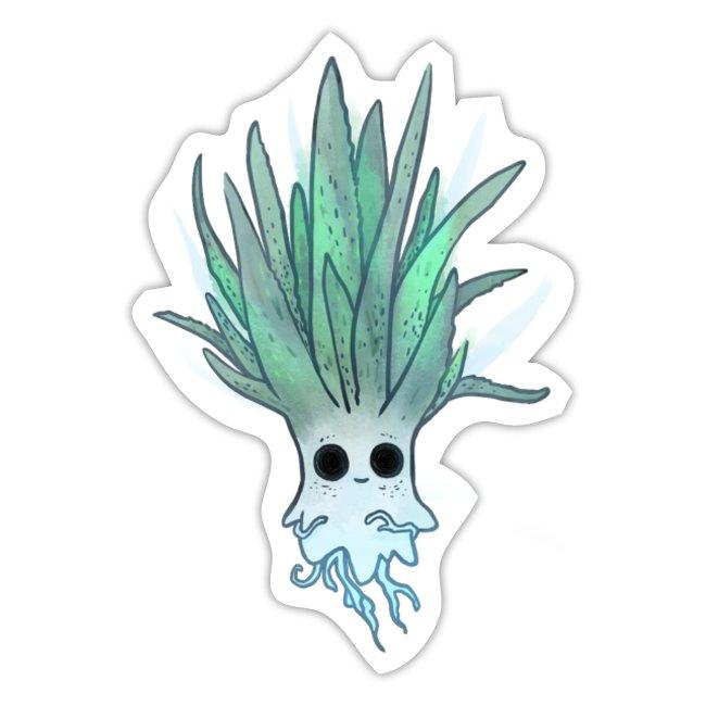 Characterdesign of Ghostplant by Illustrie  . #Zeichnung #niedlich #gruselig #houseplant #Cartoon #cute #Pflanze #Garten #illustration #grünerDaumen #ghost #Geist #Characterdesign #funny #green #Character #Natur #Kawaii #grün #Humor #AloeVera #plant #Comicfigur #Gespenst #lustig #Halloween #creature #spooky #boo #spuken #plantlife #plantlove #gardening #death #gießen #succulent #morbide #gift #geschenk #sticker #aufkleber #pin #stickerlove #stick #spread