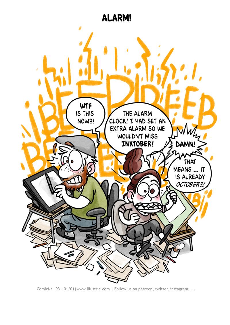 """Alarm!"" autobiografischer Comic zum Inktober-Auftakt 2020 by Illustrie // ""Alarm!"" autobiographical comic for the beginning of October 2020 by Illustrie . #drawing #digitalart #illustration #art #nerd #comicstyle #comicnerd #geek #zeichnen #illustrator #inking #sketch #dessiner #doodle #characterdesign #cartoonart #autobio #comic #comicjournal #comicdiary #drawingstories #webcomic #bandedessinée #inktober2020 #drawingchallenge #csedigital #cartoon #funny#drawing #digitalart #illustration #art #nerd #comicstyle #comicnerd #geek #zeichnen #illustrator #inking #sketch #dessiner #doodle #characterdesign #cartoonart #autobio #comic #comicjournal #comicdiary #drawingstories #webcomic #bandedessinée #inktober2020 #inktober #drawingchallenge #csedigital #cartoon #funny #humor"