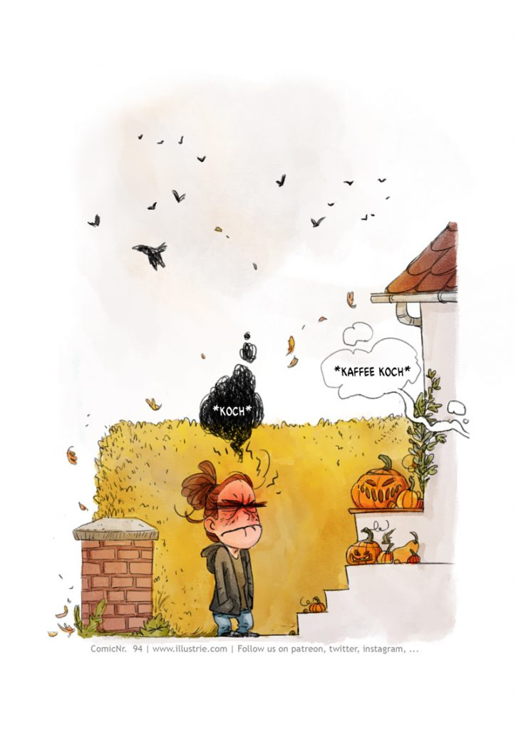 Autobiografische Comicseite (3/5) über den Diebstahl einen selbstgeschnitzten Kürbis, der schon zu gammeln anfing. . #drawing #illustration #art #nerd #comicstyle #comicnerd #geek #zeichnen #humor #sketch #dessiner #doodle #characterdesign #cartoonart #autobio #comic #sliceoflife #comicjournal #diary #webcomic #bandedessinée #manga #csedigital #pumpkin #halloween #decoration #kürbis #horrorcomic #funny #trickortreat #herbst #autumn #cute