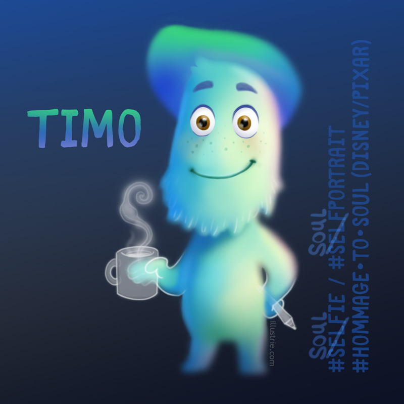 Gezeichnetes #soulselfie - ein Seelen-Selbstportrait by Illustrie, inspiriert durch den Film SOUL von Pixar | Illustrated #soulselfie - a soul self-portrait by Illustrie, inspired by the film SOUL by Pixar . #soulfie, #selfie, soulportrait, portrait, Selbstportrait, art, illustration, animation, comiccharacter, drawing, characterdesign, #soulthemovie, Disney, Fan-Art, personalisiert, Zeichnung, creative, kreativ, Familie, family, comic art, comic style, cartoon, funny, lol, meme, soulmeme, humor, witzig